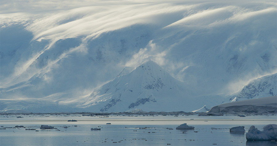 Stoup has seen evidence of climate change in the form of Antarctica's massive glaciers calving at an alarming rate.